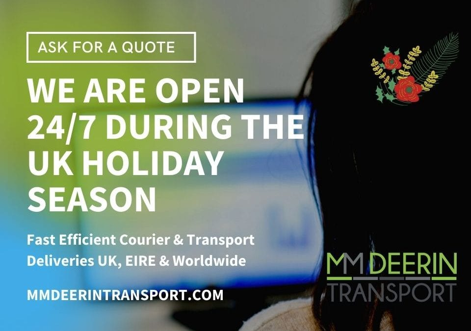 WE ARE OPEN 24/7 DURING THE UK HOLIDAY SEASON